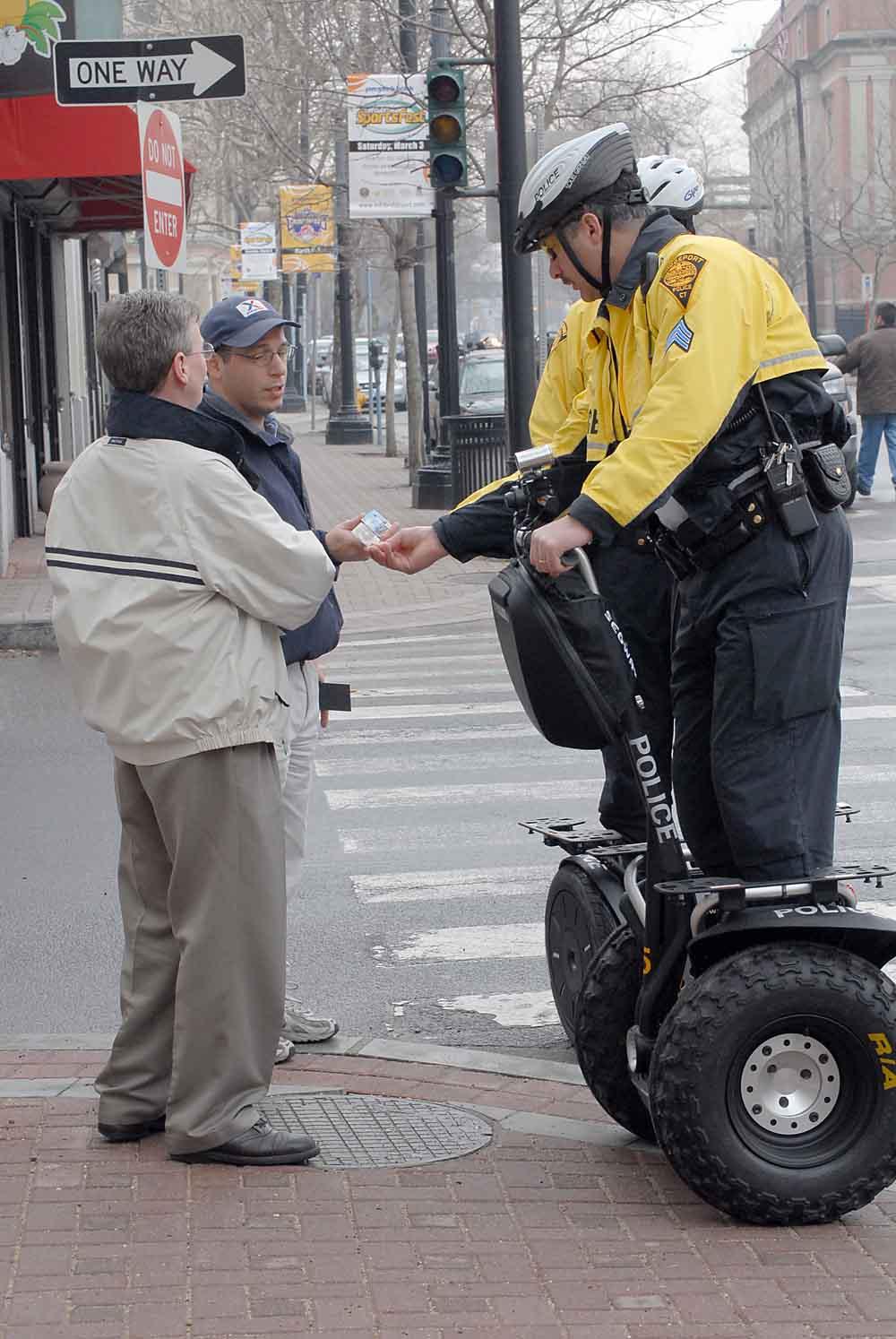 Polizia col Sedgeway